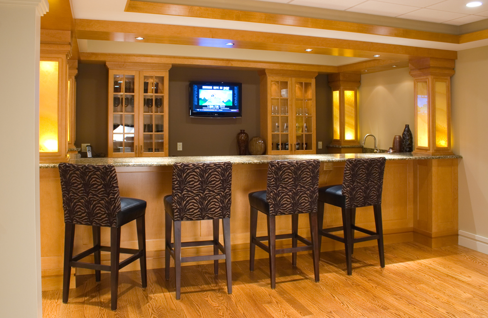 remodeled basement bar