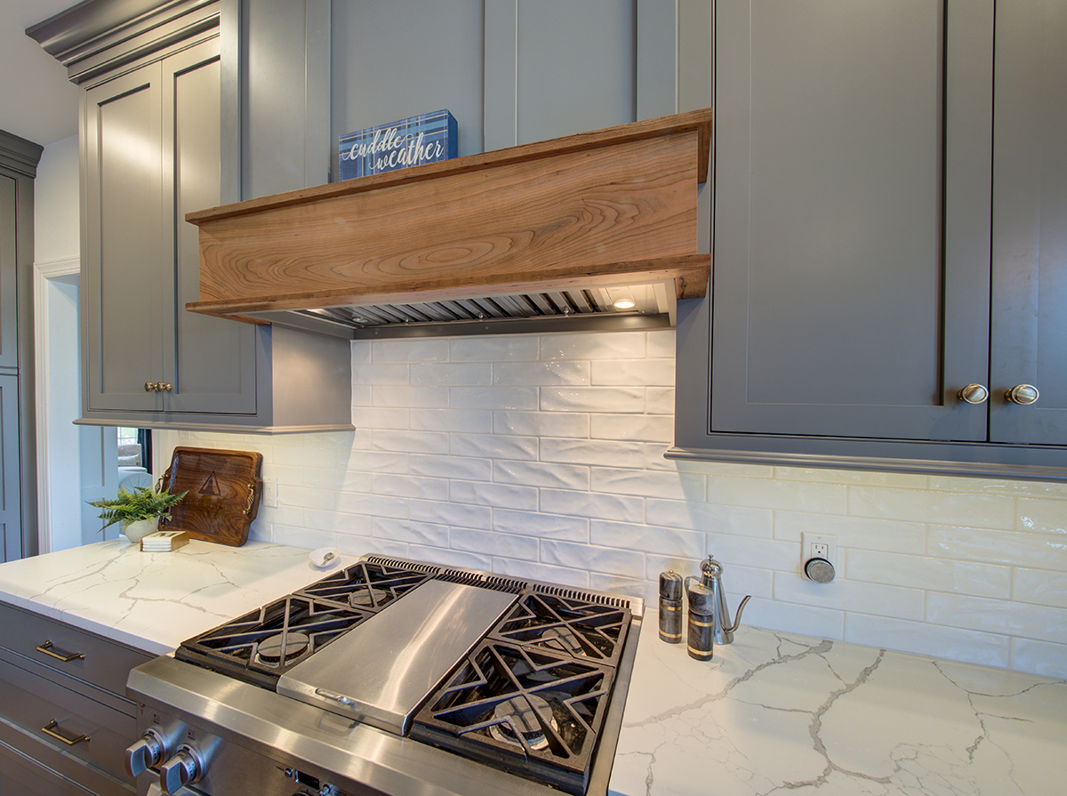 custom wood stove hood